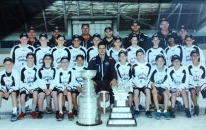 Aidan at Sidney Crosby hockey school